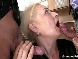 cock-cum-cum swallow-grandma-lady