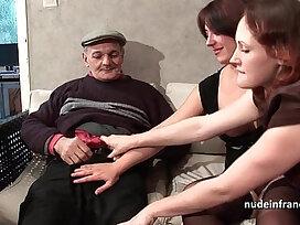 brunette-cock-ffm-french-grandpa