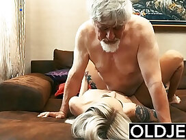 amateur-blonde-grandpa-licking-old and young